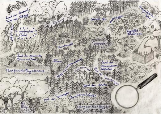 Die Abenteuerkarte weckt die Fantasie der Kinder